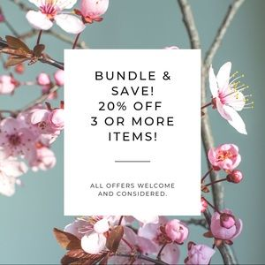 Bundle 3 or more items to SAVE 20% off your order!